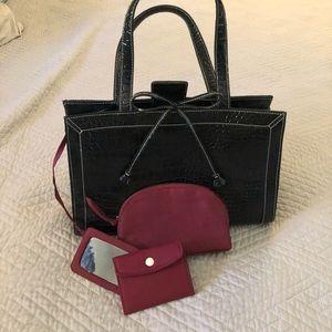 Liz Claiborne faux leather, alligator purse.